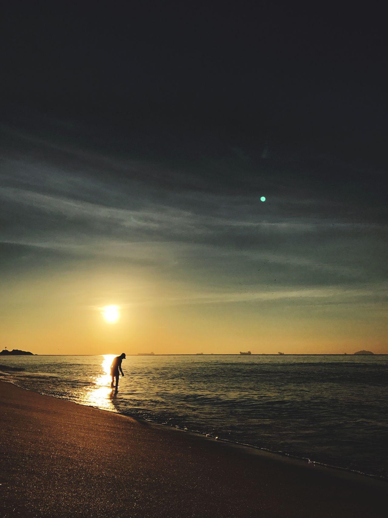 Sunrise Ipanema Ipanema Beach Rio De Janeiro Brazil Sea Vscocam VSCO IPhoneography IPhone 7