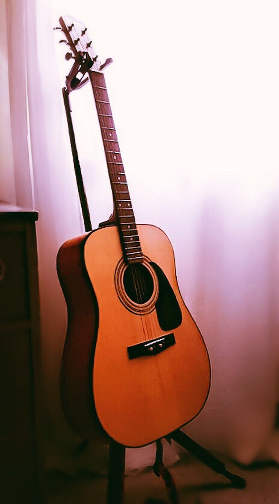 Strumming My Guitar Fender Acoustic Steel Strings Bright Light Filtered Through The Window Cream Curtain Lit From The Sunlight My Music Music Room At Home :) I Love This Place <3 Best Shots EyeEm My Unique Style Beautiful Day Where I Live EyeEm Gallery Just Taking Pictures Sun Is High Hot Outside Airconditioned Cool Inside Room Relaxing Space This Is Where I Play And Write