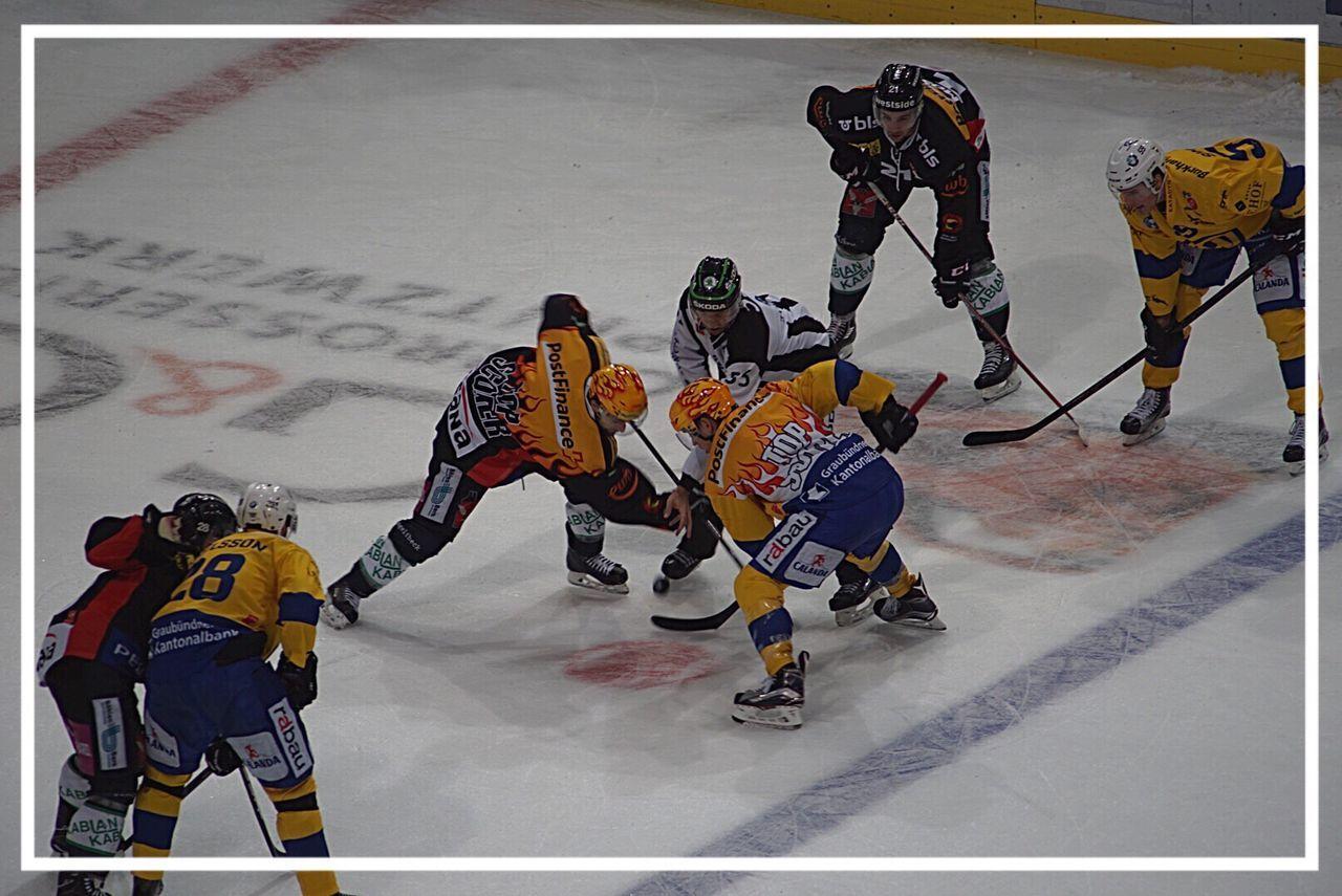 Sport Competition Sportsman Eishockey SCB-HCD,Swiss