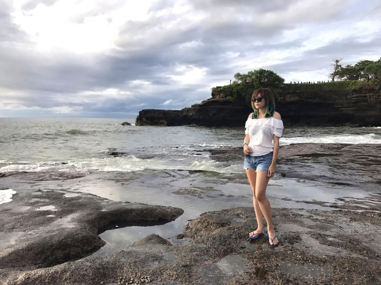 💙🌊 Life Is A Beach 🌊💙 Travel Tanah Lot Wave Bali Bali, Indonesia Scenics Beach Beauty In Nature Cloud - Sky Exceptional Photographs Travel Destinations Landscapes Nature One Person Outdoors People Portrait Sea Young Adult Young Women Tadaa Community That's Me Uniqueness Miles Away Women Around The World