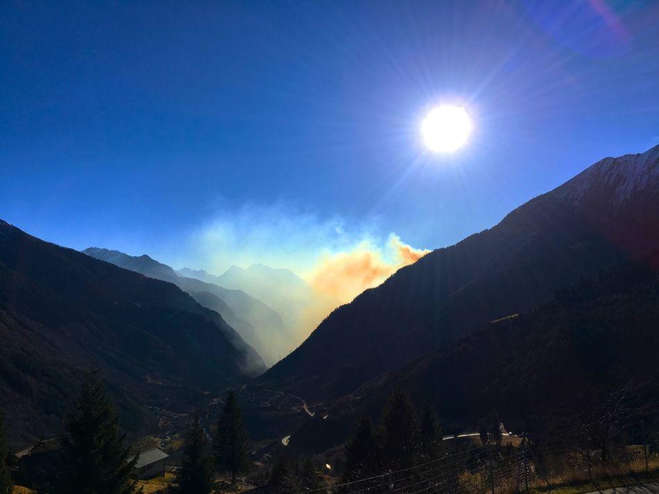 Waldbrand Burning Forest Mountain Mountains Mountains And Sky Mountain View Tal Valley Valley Of Fire Sun Fire Rauch Smoke