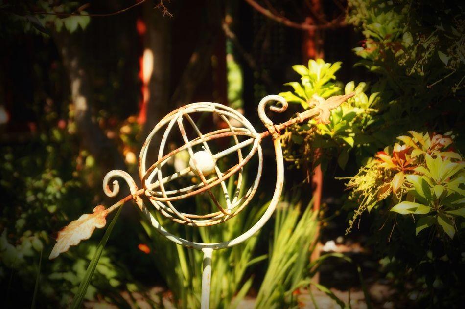 Arrow and Globe Garden Arrow Globe Warm Sunny Day Metal Wrought Iron Beautiful British Columbia Bowen Island