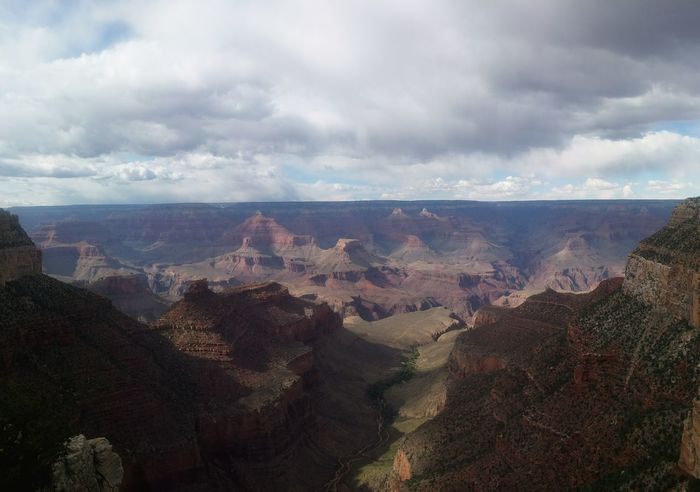 Arid Climate Barren Beauty In Nature Cloud Cloud - Sky Cloudy Day Geology Grand Canyon Horizon Over Land Idyllic Landscape Mountain Nature No People Non-urban Scene Outdoors Physical Geography Remote Rock Formation Scenics South Rim Tranquil Scene Tranquility Travel Destinations