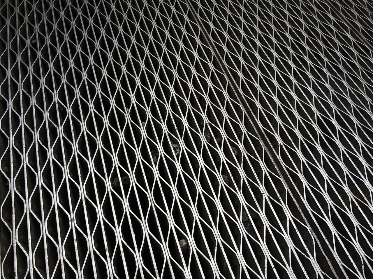 Metal Structure Surface Pattern Subway Ventilation. New York NYC Street