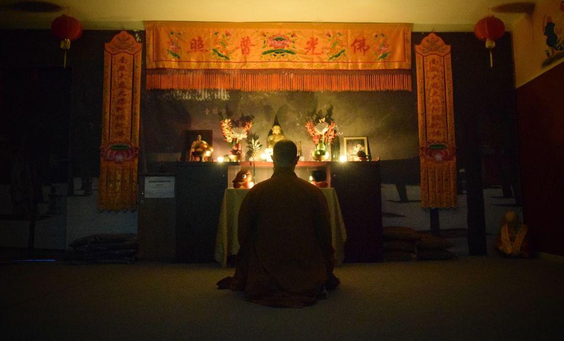 Master Shi Yan Xiang meditating. Shaolin Greece Shiyanxiang Shaolin Temple Greece