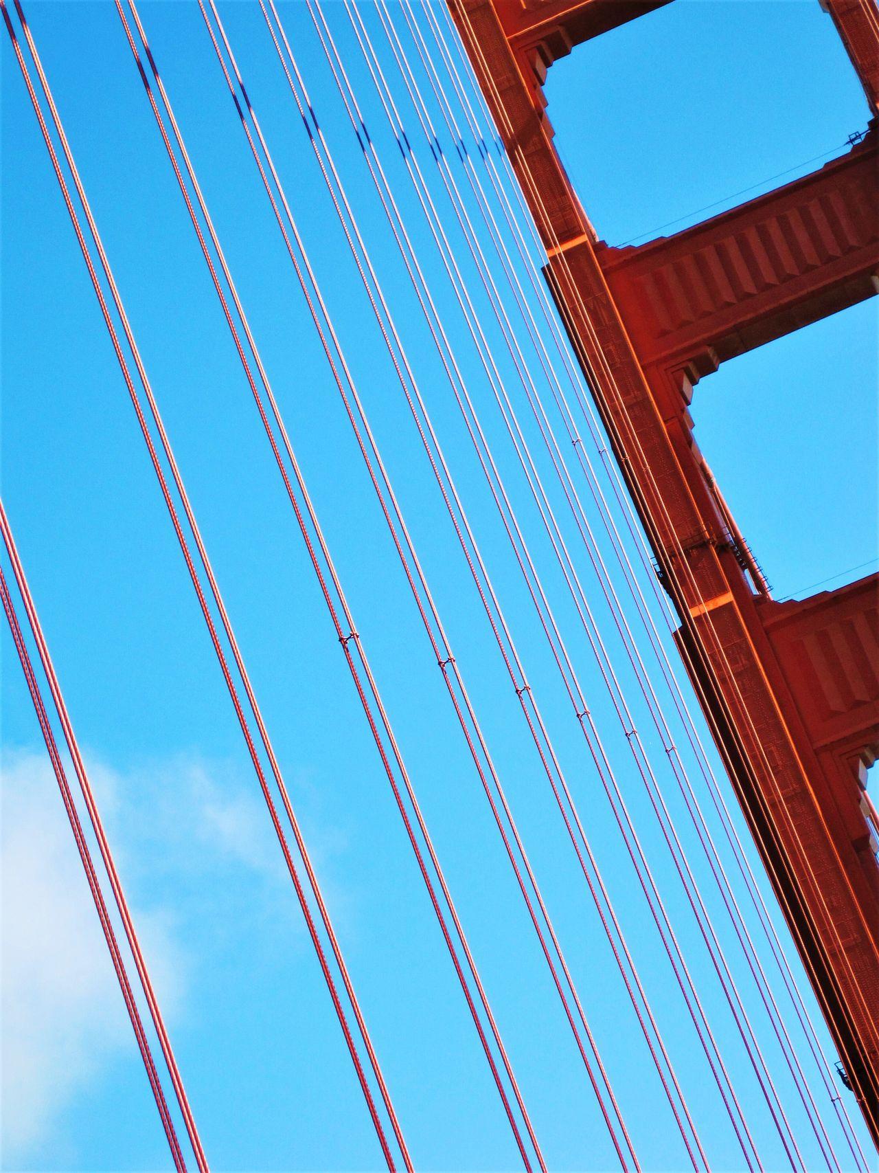 Architecture Built Structure Low Angle View Sky Outdoors Suspension Bridge Bridge - Man Made Structure Bridge Golden Gate Bridge San Francisco Outside Connection EyeEmNewHere EyeEm EyeEm Gallery EyeEm Best Shots EyeEm Best Shots - Architecture EyeEmBestPics