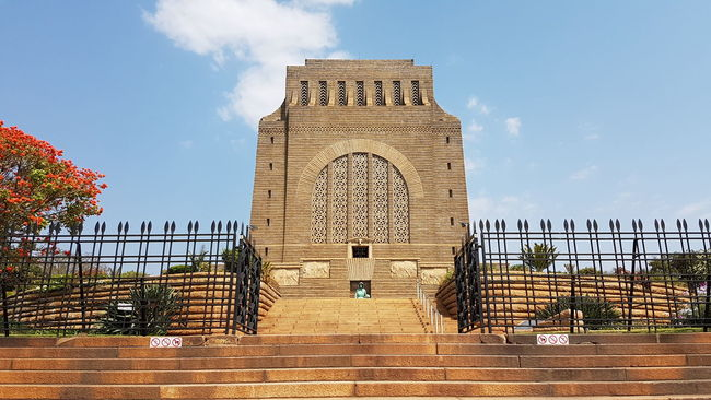 Architecture Built Structure History Sky Travel Destinations Arch Famous Place Railing Tourism Outdoors Entrance The Past Cloud - Sky Day Monument International Landmark Architectural Feature National Landmark Heritage Site Pretoria Tshwane Voortrekker Monument Granite Structure From Where I Stand