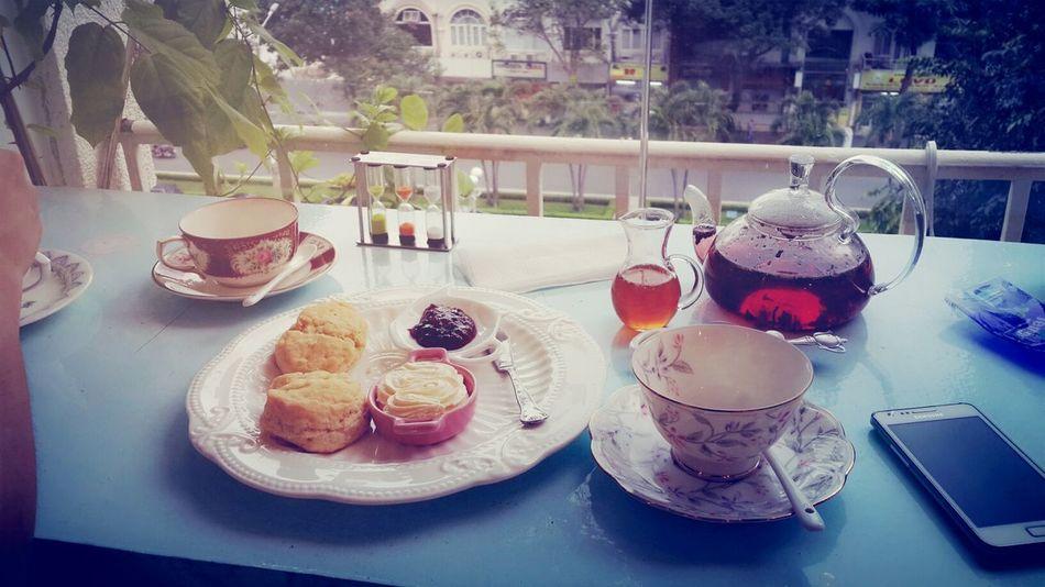 Very Berry Tea Scones Teatime Chatting Warm Fragrance Refresh