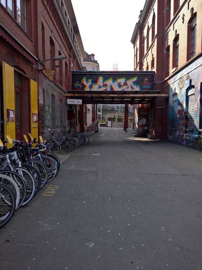 Architecture Art And Craft Bicycle Building Exterior Built Structure City Life Creativity Culture Road Zürich Zurich, Switzerland Lake Of Zurich Waterfront Colors Colorful Graffiti Street Art Rote Fabrik Streetphotography The Great Outdoors With Adobe The Architect - 2016 EyeEm Awards