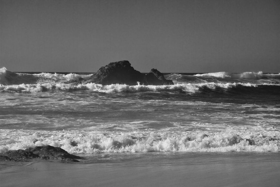 Aljezur Beach Beauty In Nature Black Photography Horizon Over Water Image Noir & Blanc Nature Sea Water