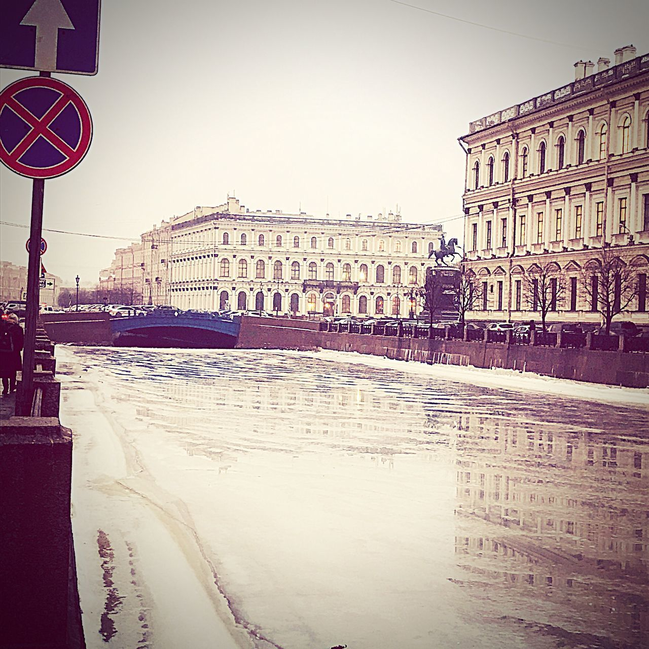 Синий мост City No People Life Cold Temperature Blue Beauty Winter