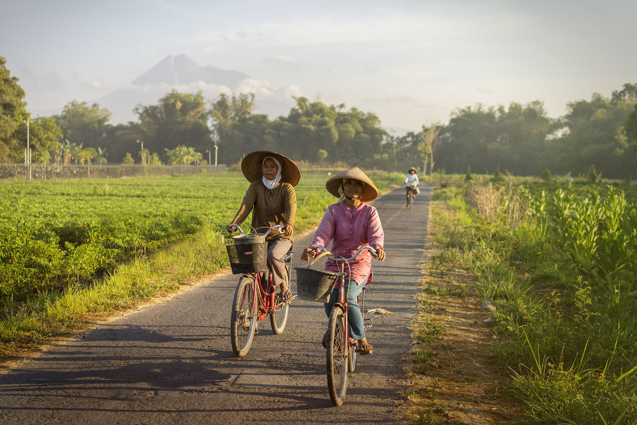 The Happiness of Country Side Adult Beauty In Nature Bicycle Countryside Family Females Friendship Happiness Happiness Landscape Merapi Volcano Morning Light Mountain Mountains My Year My View Nature Offspring Outdoors People Rural Scene Summer Togetherness Two People Woman Yogyakarta