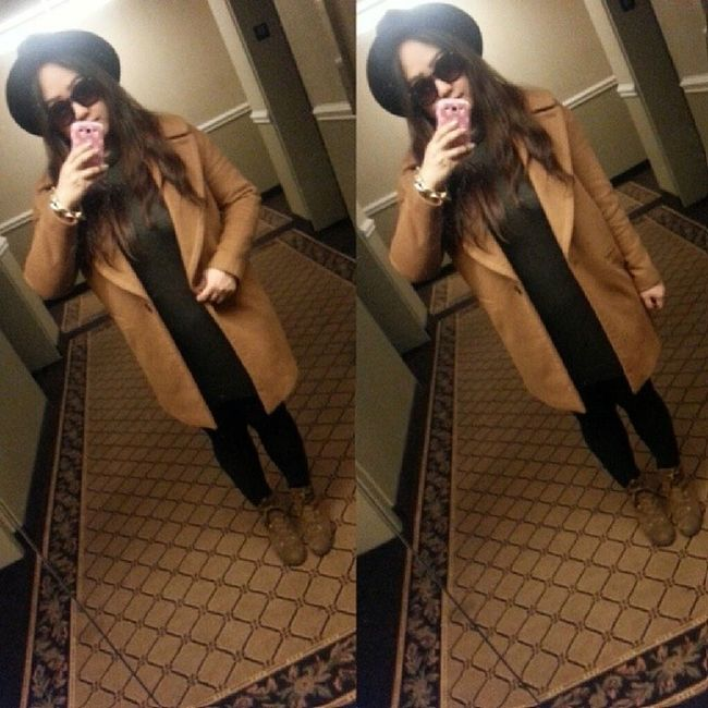 Simplicity is the keynote of all true elegance -Coco Chanel Ootd Fashion Style Overcoat fedora Zara selca selca korean koreangirl asian asiangirl 얼짱 셀카 한국인 uljjang ulzzang instagood instamood fotd selfie winterfashion