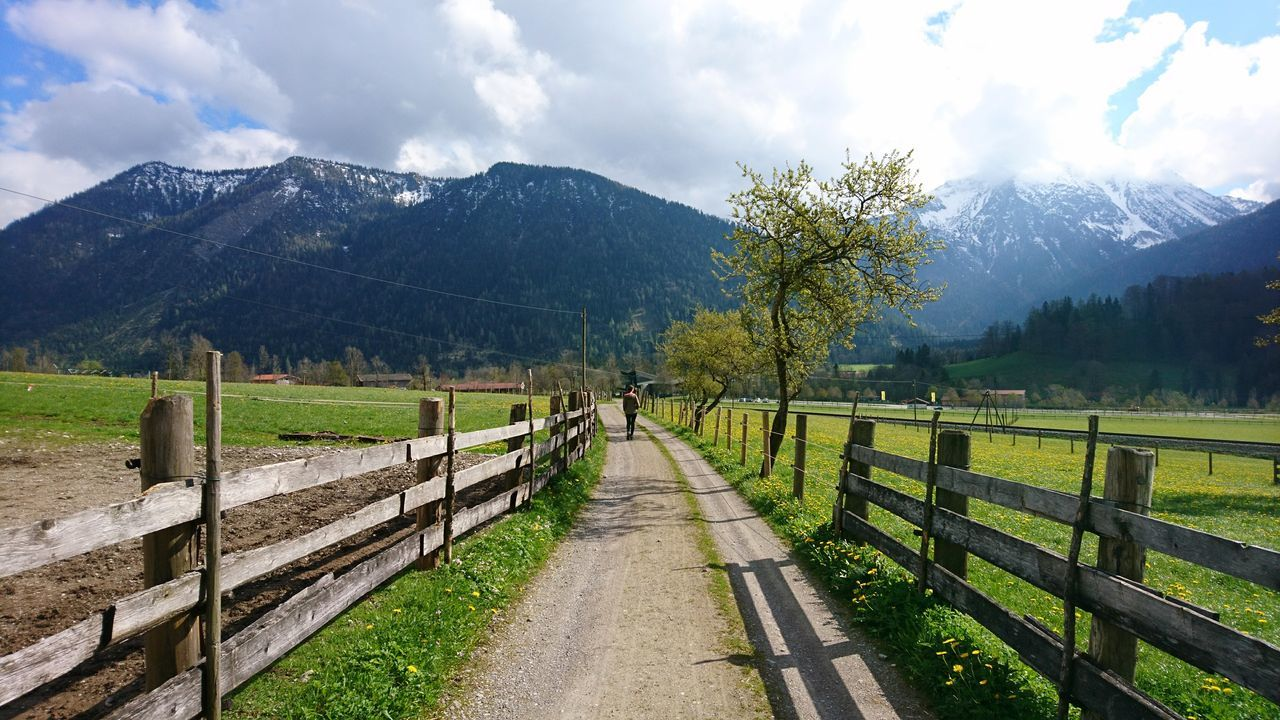 Alpine foreland V. · Germany Bavaria Bayern Alpine Foreland Alpine Foothills Path The Way Forward Mountains Nature Landscape Rural Landscape Pastures Fields Green Great View Beautiful Day ✨