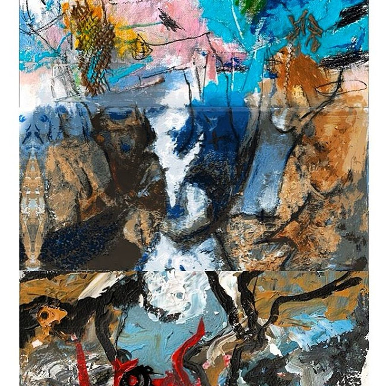 Cadáver Exquisito realizado por 3 artistas con 3 técnicas diferentes, Acojonante Cadáverexquisito Jortubia Negua