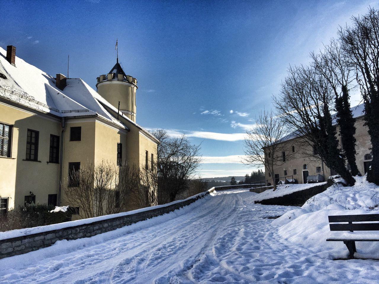 Hello sunshine welcome in 2015! Castle Winter Bavaria