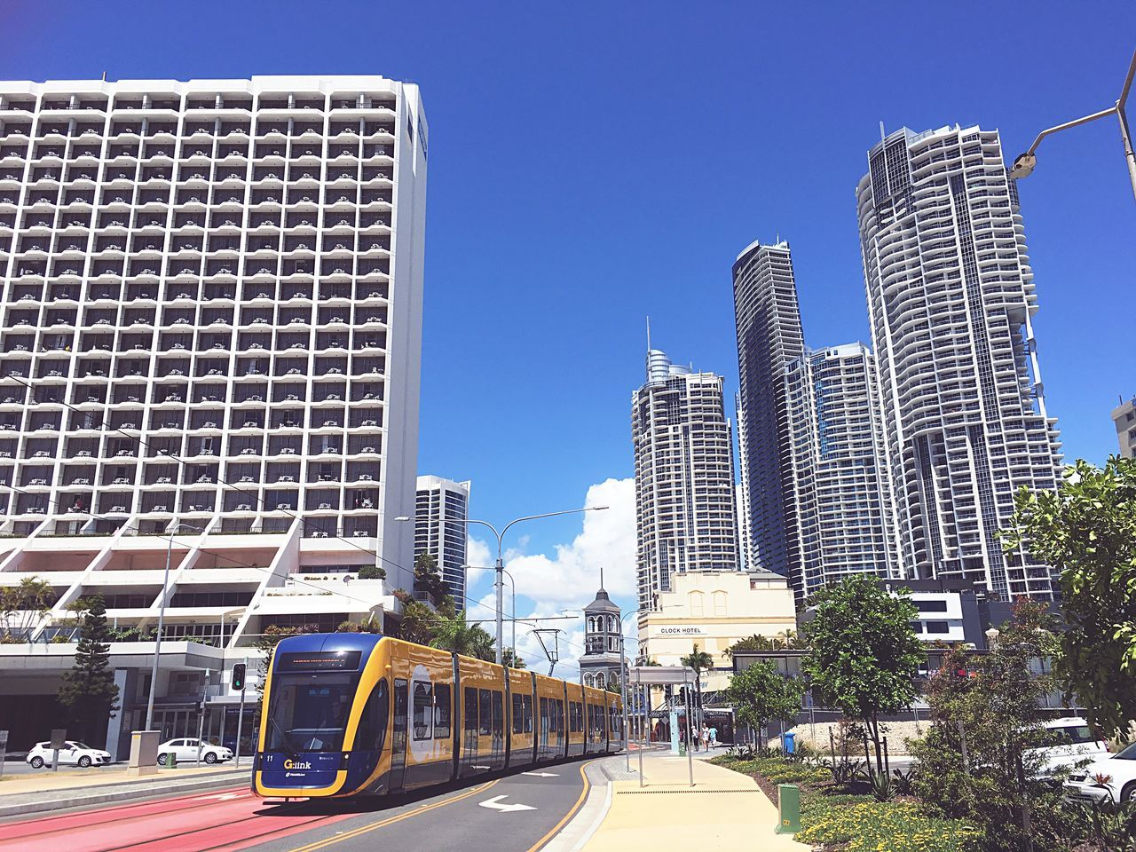 Gold Coast Architecture City Building Exterior Built Structure Transportation Tower Outdoors Road No People Sky Clear Sky Cityscape City City Life Architecture Adapted To The City