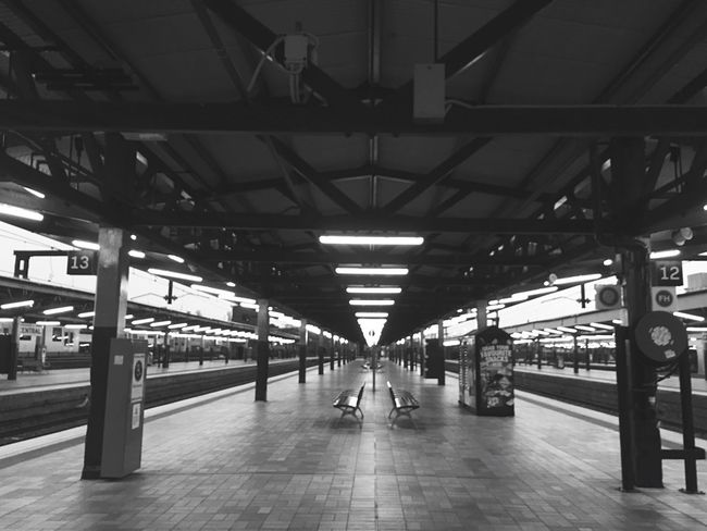 Symmetrical Viewpoint | Train Station | Blackandwhite Sydney Morning Photo