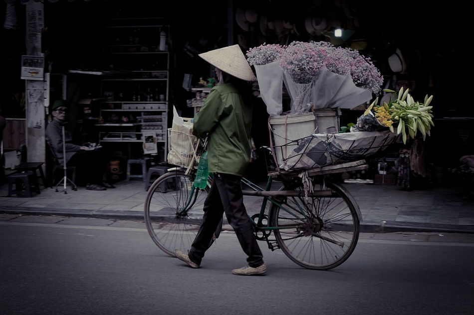 TCPM Bicycle Outdoors City Street Moving Hanoi Vietnam  Streetphotography