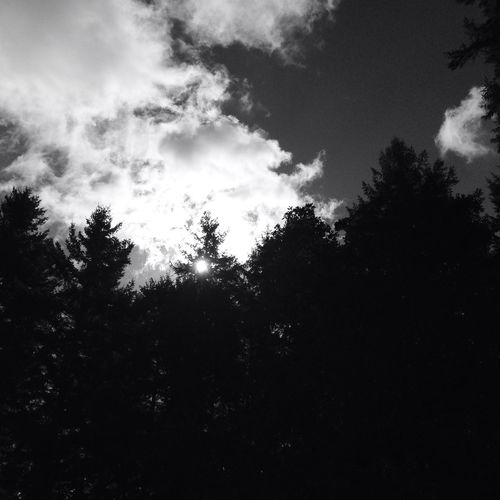 Thelightshinesthruthedarkness Clouds And Sky Blackandwhite Tacoma PNW
