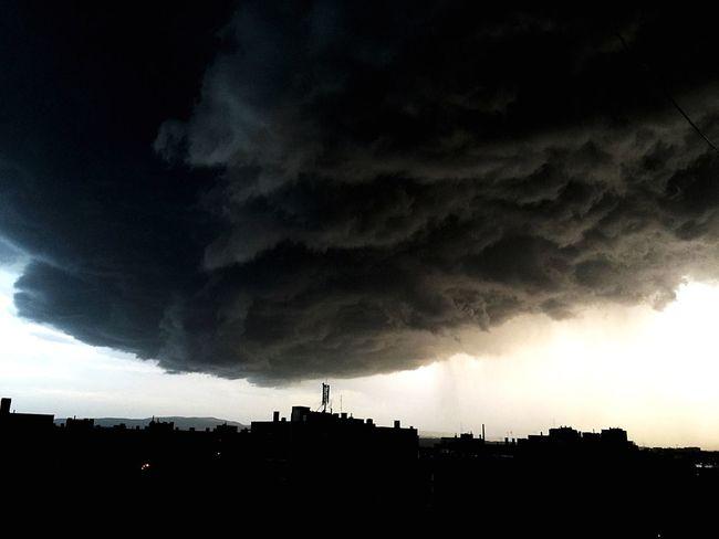 Little Cloudy Rain Dark Cloud Sky View Armageddon Endoftheworld