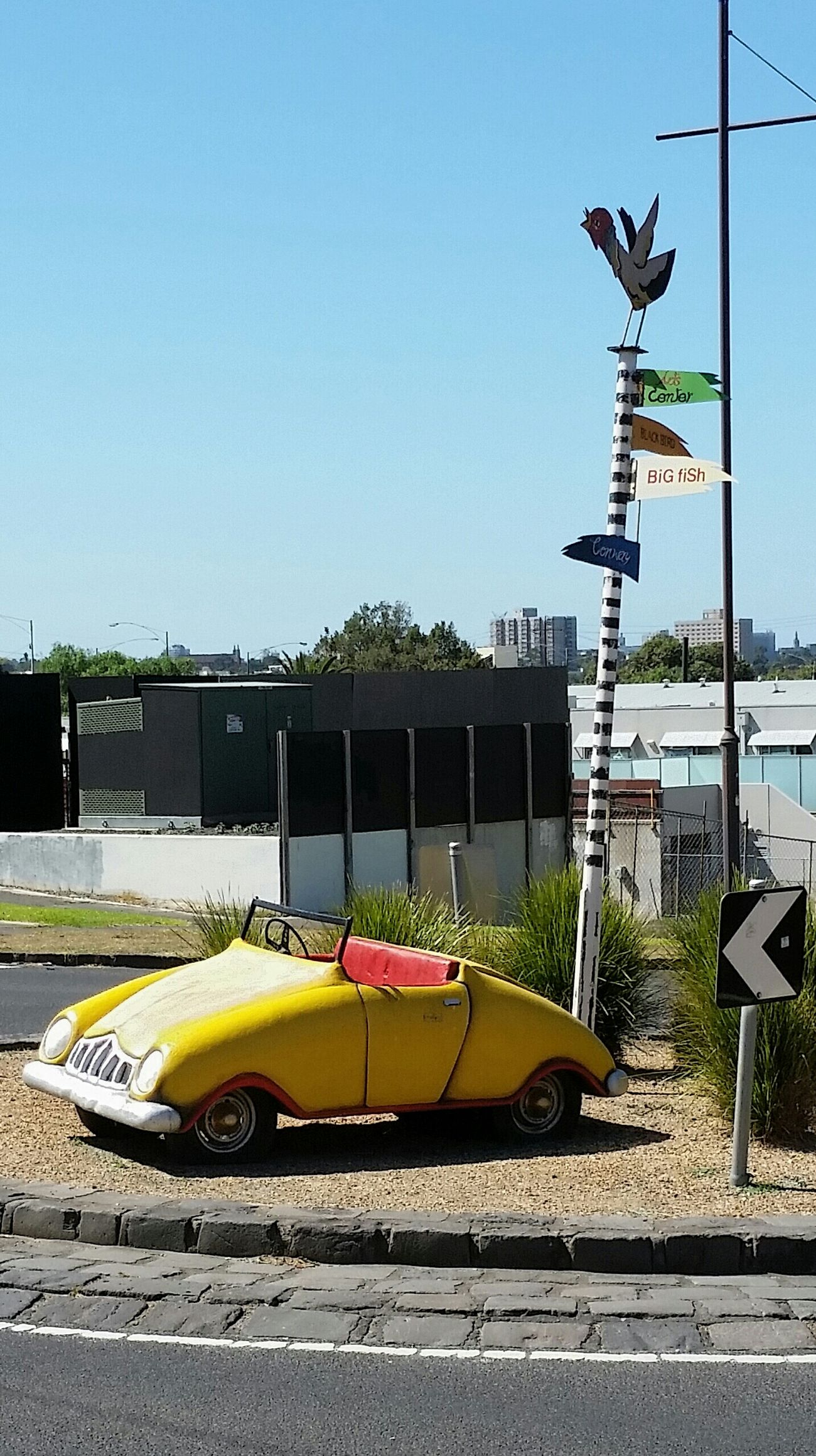 Footscray Little Car  Yellow