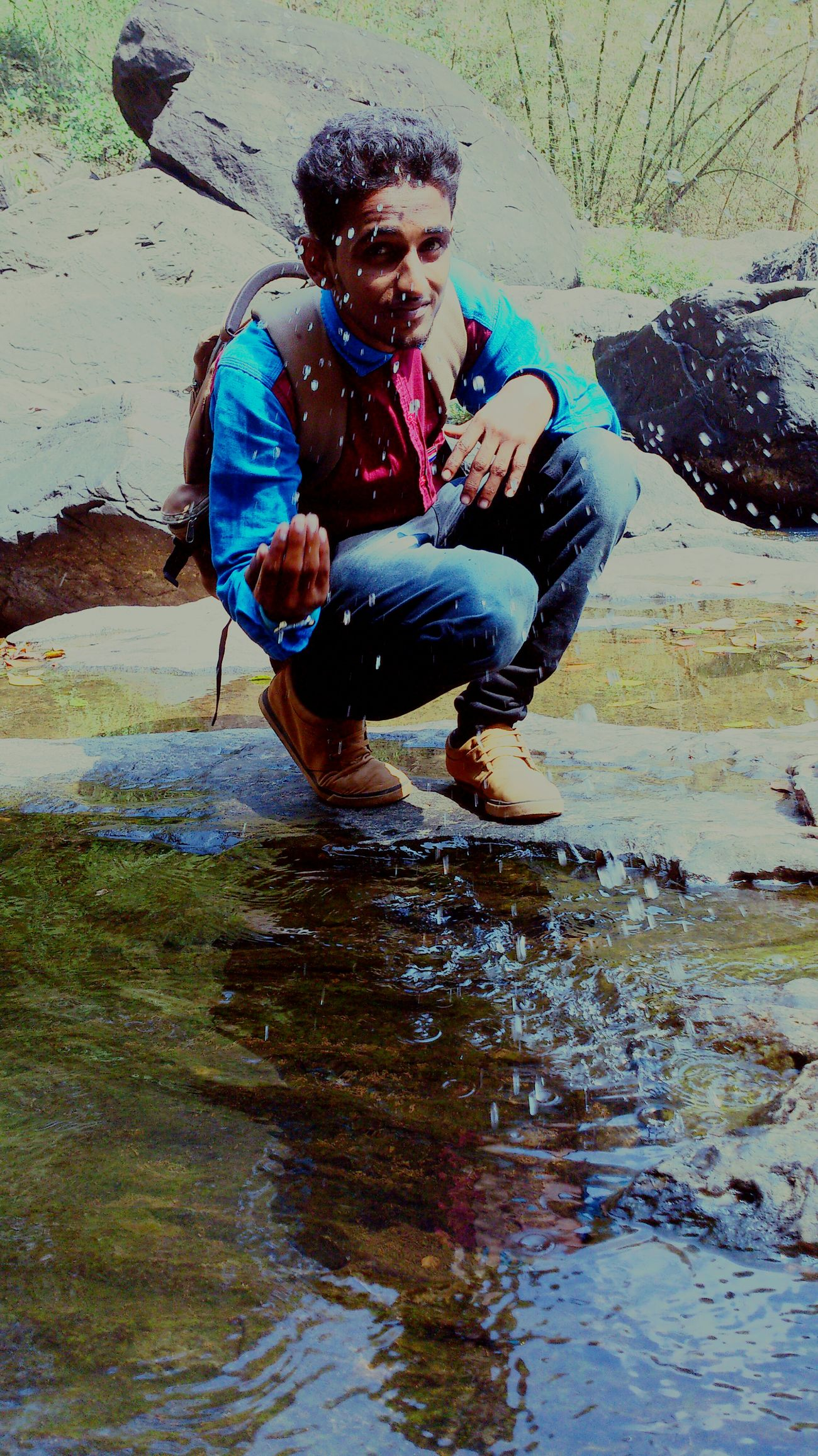 My Winter Favorites My Friend ❤ Cold Water Top Of The Rock Enjoying Life Trecking Clean Shot Smile :) Taking Photos Hello World Hi! India Kerala Wayanad Amazing View