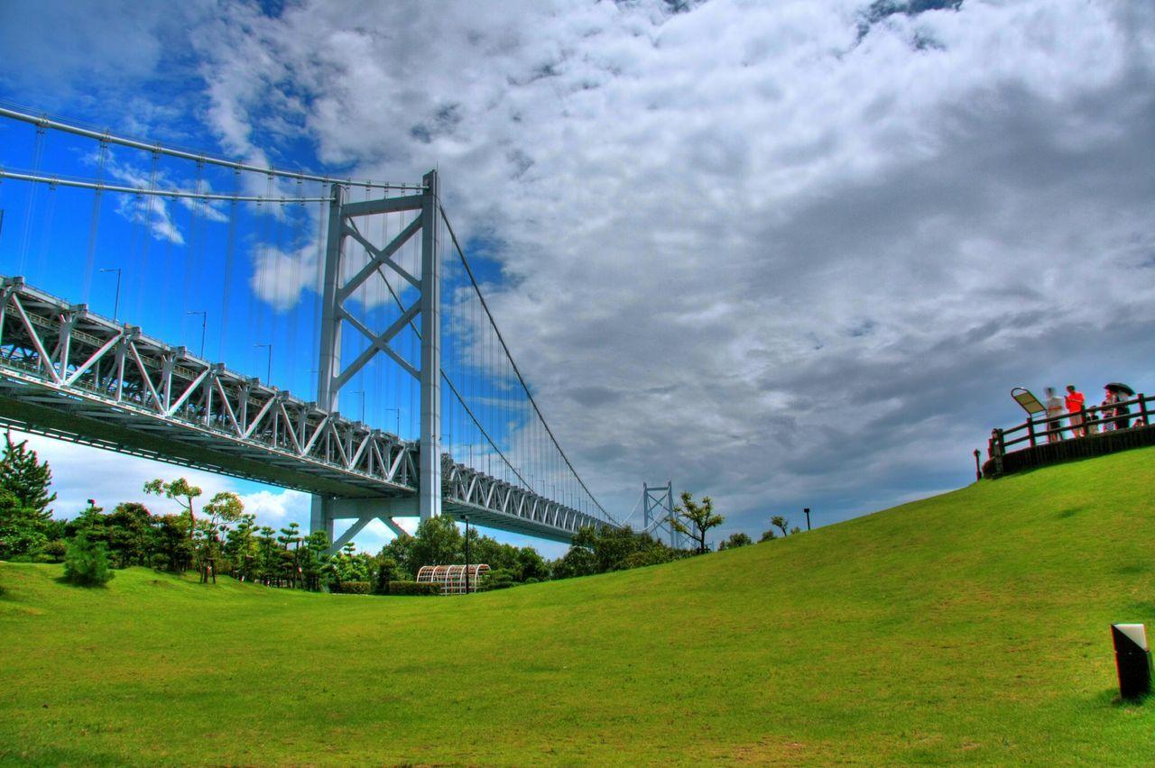 Seto-ohashi 瀬戸大橋 Setouchi Sea Sky Clouds And Sky 瀬戸大橋公園