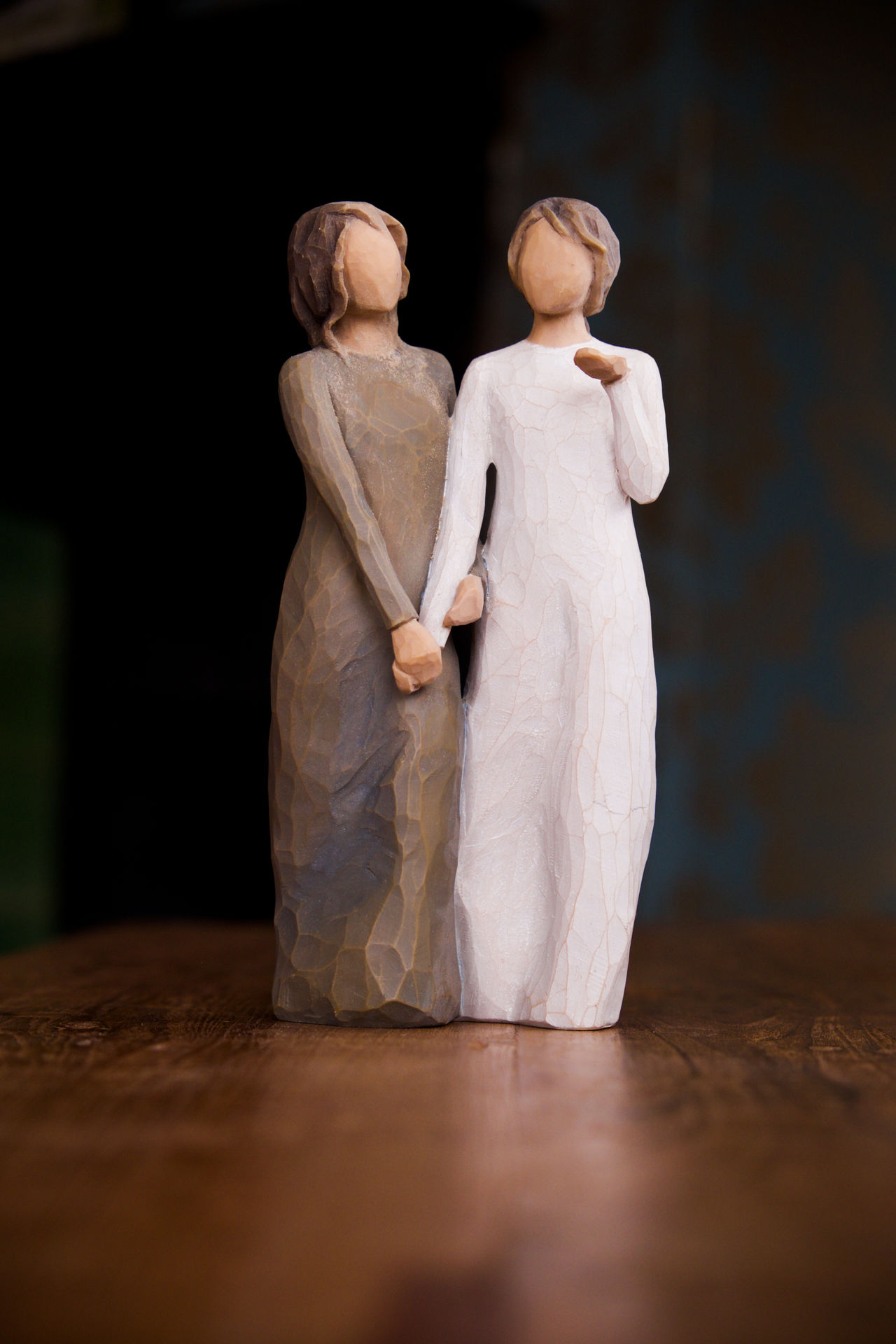Adult Adults Only Affection Affectionate Closeness Diversity Full Length Gay Love People Statues Tradition Two People Two Women Valentine Wooden Statues