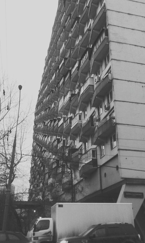 Black And White Urban House Hostel Abstract Diagonal Lines Ussr Made In USSR