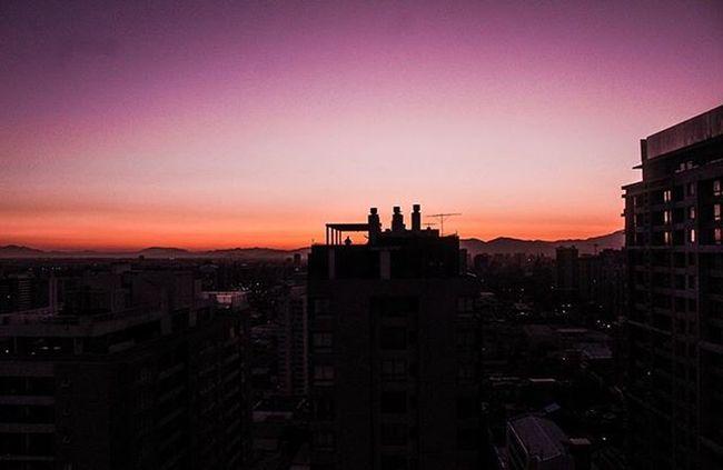 A purple sunset, Purple girlfriend ❤️ Landscape Piggytravel Santiago Photographer VSCO Vscocam Piggyedition Morita Purple Orange Skyporn Building Rooftop Sunset Twilight Shadows Girlfriend Canon T5 55mm Urbanromantix