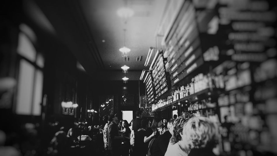 Indoors  Men Shelf People Illuminated Crowd Adult Adults Only Day Bar Train Station The Terminal Women Menu Bottle Liquor Alchohol Blackandwhite Black And White Blackandwhite Photography Black And White Photography EyeEmNewHere Eyeemphotography Denver Colorado Welcome To Black