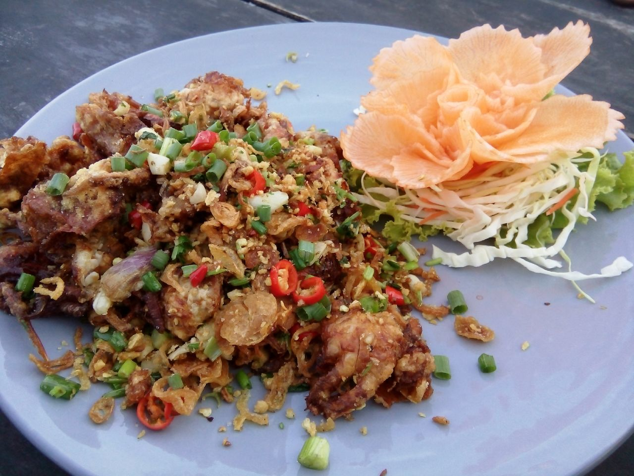 Soft Shell Crab Fried With Herbs Thai Food Food Enjoy Eating Meal Dinner Dinner Time Relaxing Hanging Out Crab