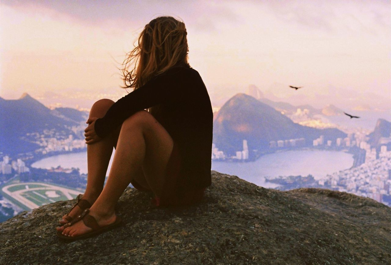 Beautiful stock photos of woman, Beauty In Nature, Casual Clothing, Dusk, Focus On Foreground