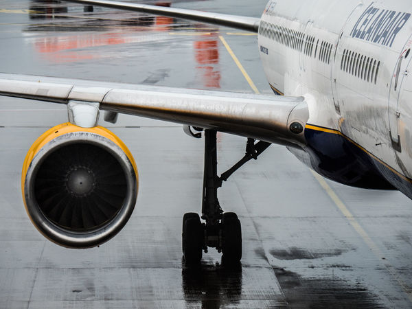 Hamburg Icelandair Plane Rain Aerospace Industry Air Vehicle Airplane Airplane Wing Airport Close-up Commercial Airplane Engine Journey Mode Of Transport Transportation Travel Wet