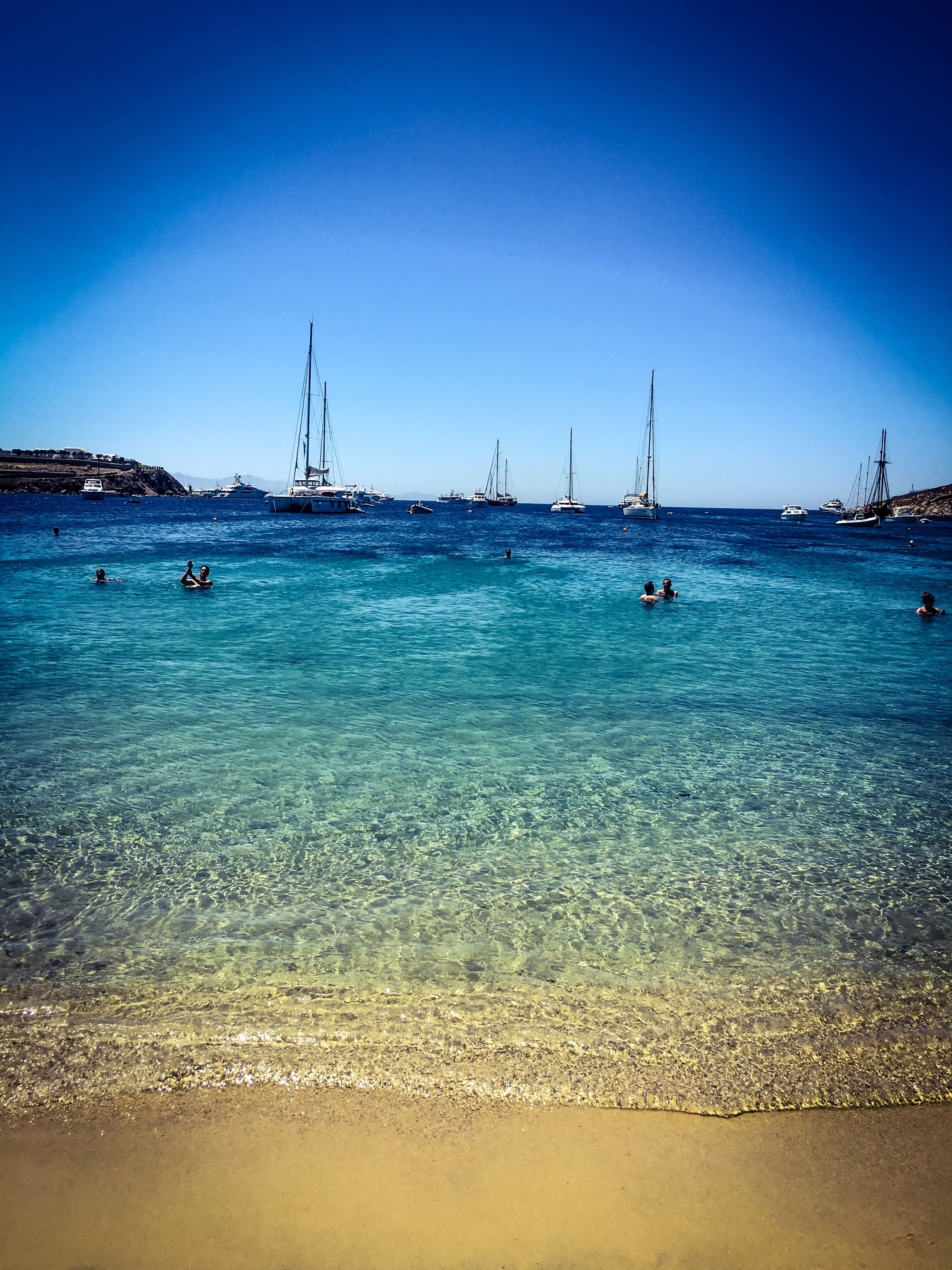 Aegean Sea Cyclades Sea Nautical Vessel Blue Sailboat Outdoors Sand Beach No People Tranquility Scenics Beauty In Nature Nature Travel Destinations Travel Photography Islandlife