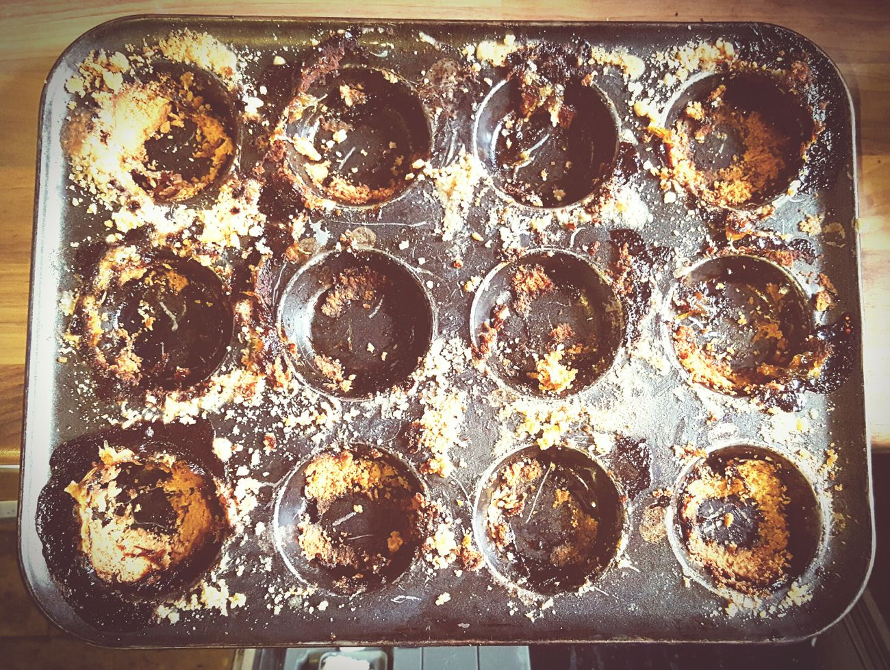 Before Ten Morning After Last Night Pudding Disaster In The Kitchen Baking Tray Burnt Twelve