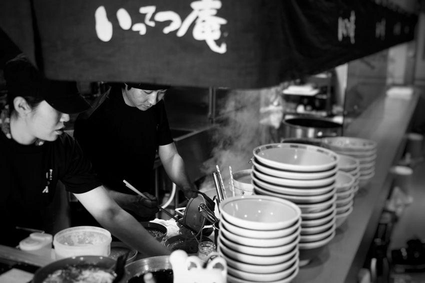 Master ramen maker in Japan. Hokkaido Japan Hokkaido Japan Preparation  Preparing Food Indoors  Ramen Noodle Ramen Noodle Lunch Commercial Kitchen Chef Freshness Food And Drink Establishment Blackandwhite