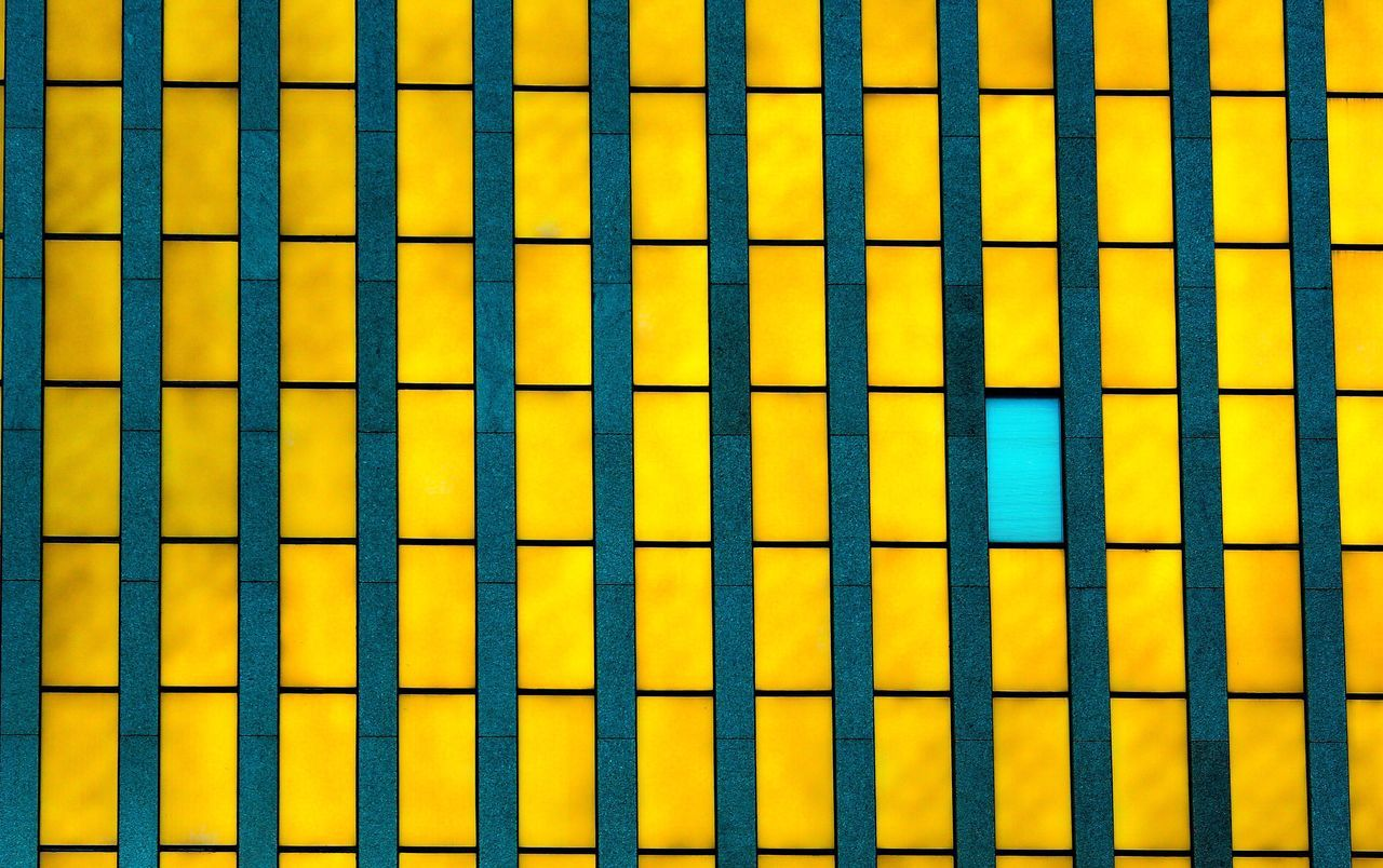 Non Conformist. Yellow Backgrounds Full Frame Day No People Sky Close-up Windows Office Architecture JGLowe Window Window Shopping Glass