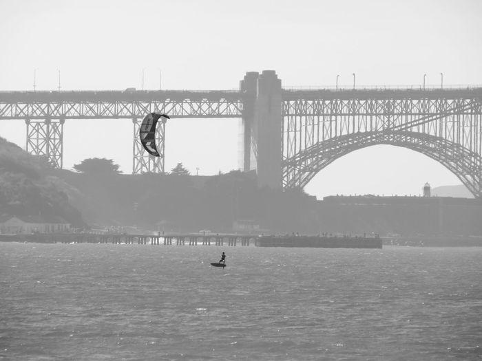 Capturing Movement San Francisco Golden Gate Bridge Kite Surfing Authentic Moments Black And White Surf's Up San Francisco Bay San Francisco Bay Bridge