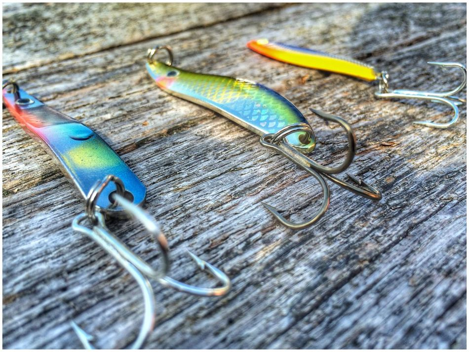 Don't forget the bait! Wood - Material Metal Bait Fishing Norway Sorlandet Hobbies Shiny Hook