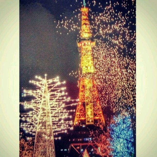 Lights Odori Park Sapporo Hokkaido winter