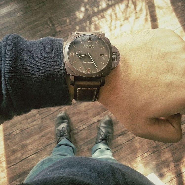 Been awhile. Panerai Pam386 Wristporn Wristshot
