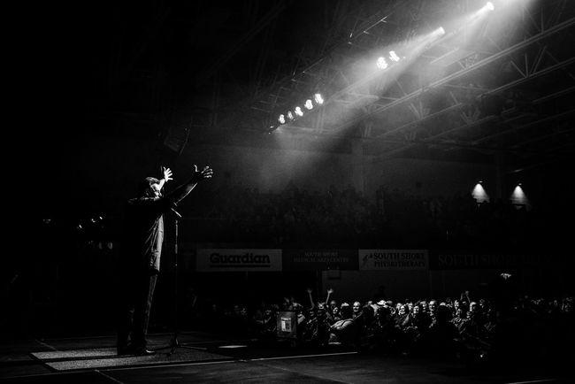 Sammy Kershaw concert. Art Culture And Entertainment Black & White Concert Concert Photography Dark Illuminated Light Lighting Equipment Night Sammy Kershaw