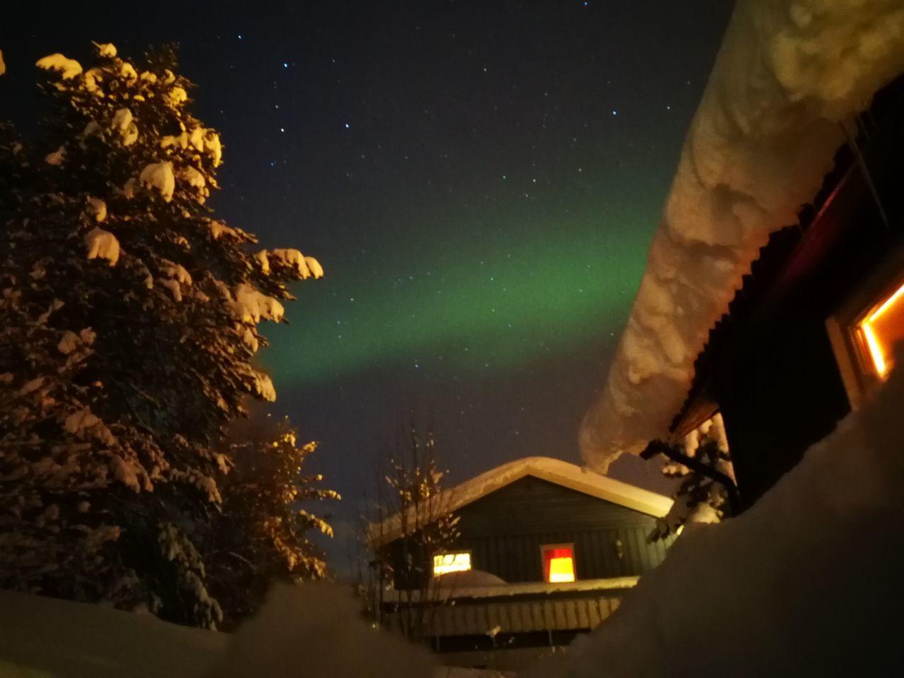 Aurora Borealis Space NatureSky No People Outdoors Winter Night Stars