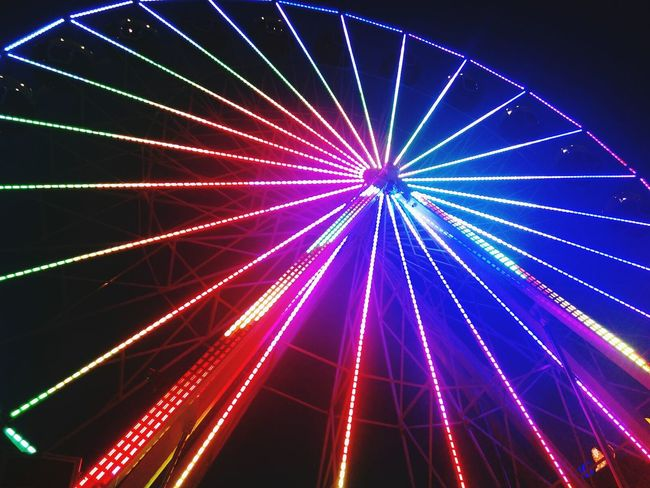 Illuminated Sky Night City Electric Light Nightlife Diminishing Perspective Multi Colored Famous Place Lens Flare Octoberfest Carneval Budapest Budapest, Hungary Culture Octoberfest Wheel