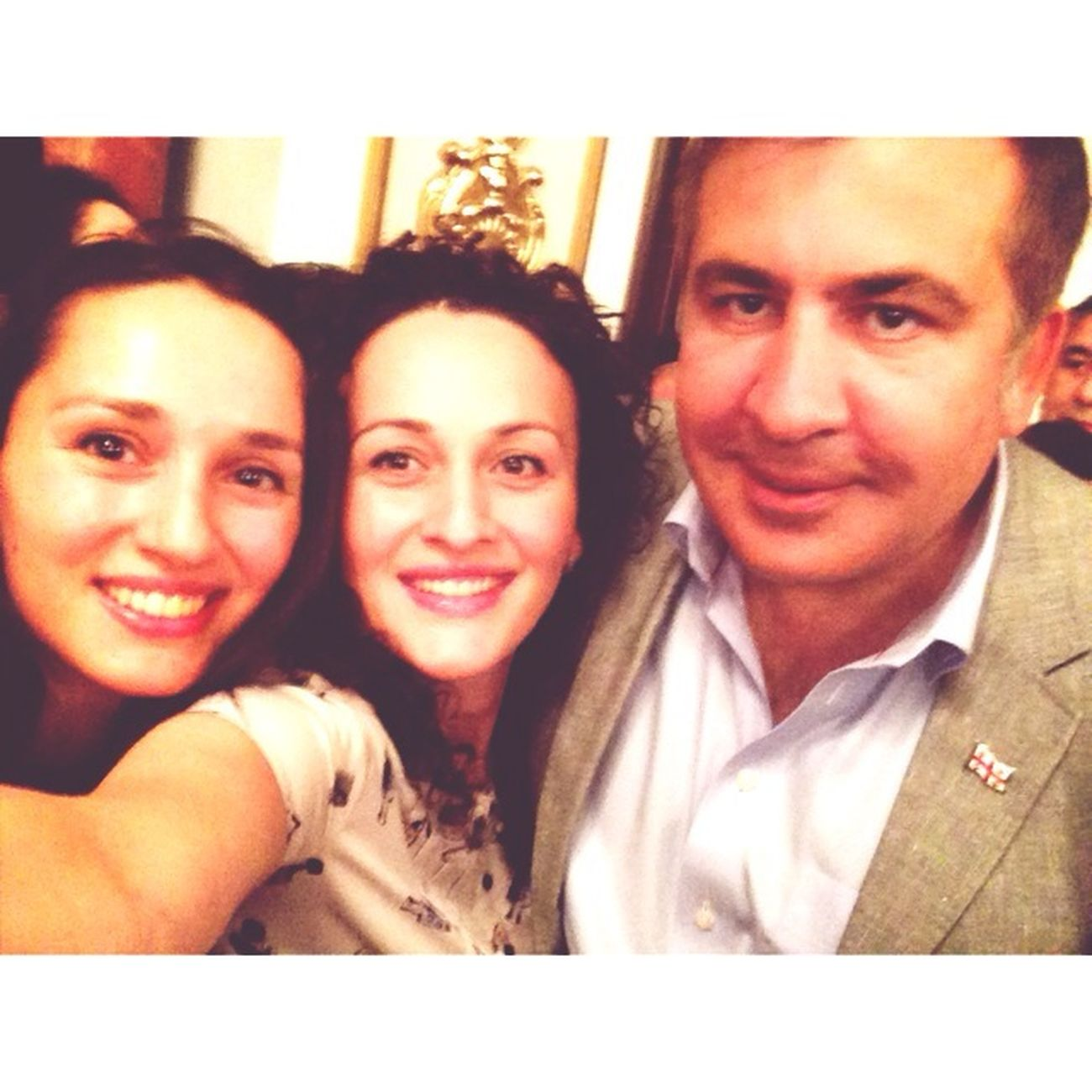 Saakashvili Prezident Selfi Hello World