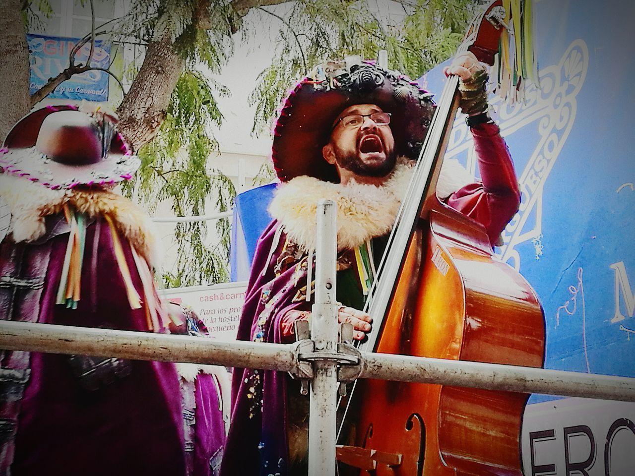 Celebration Carnival Crowds And Details Carnaval Cadiz