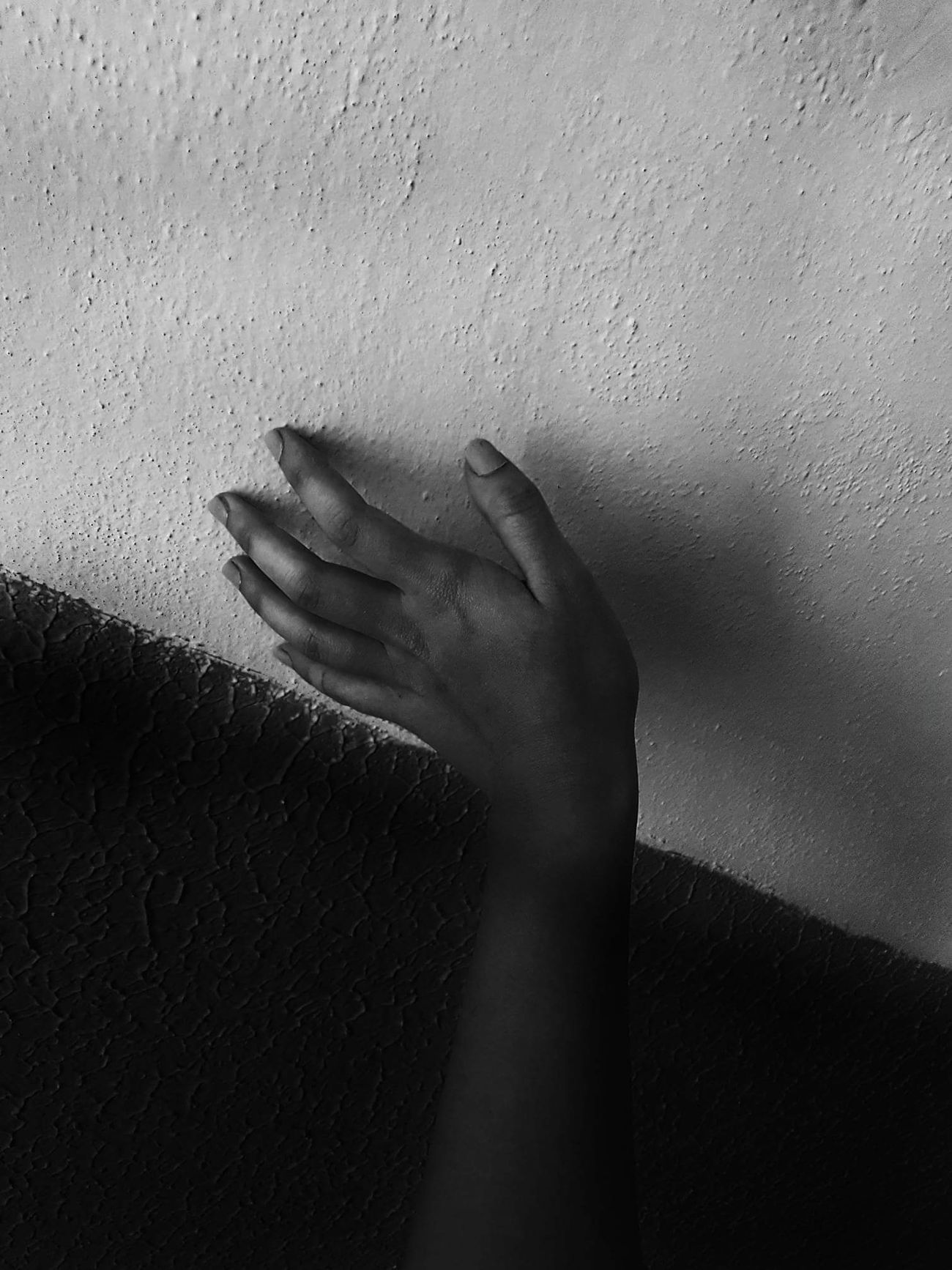 Soft touch Wall #touch #blackandwhite Hand Shadow Indoors  Human Hand Human Body Part One Person Adult Day