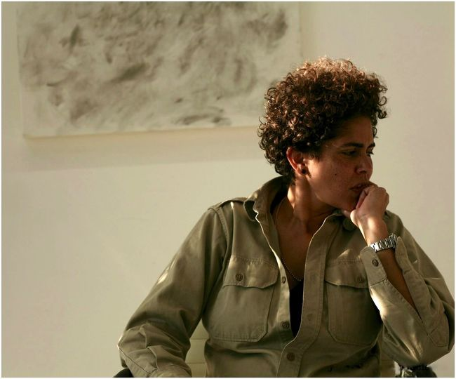 painter Julie Mehretu NYC Artist Casual Clothing Celebrity Portraiture Celebrityphotography Composition Confidence  Contemplation New York Times Featured Painter Person Serious Young Women The Portraitist - 2016 EyeEm Awards